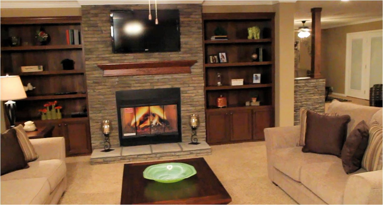1 Fireplace Bookshelves Living Room Champion 3019 Manufactured