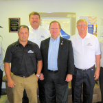 Congressman Bill Flores Tours a Manufactured Home Building Center