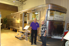 Then and Now – 1954 Spartan Mobile Home & 2014 Fairmont Manufactured Home – 60 Years of Progress Displayed at RV MH Hall of Fame, Elkhart, IN