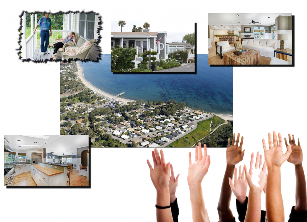 collage-wall-street-journal=credit=million-dollar-manufactured-homes-paradise-cover-malibu-ca-npr-org-hands-raised2-mhlivingnews-com-