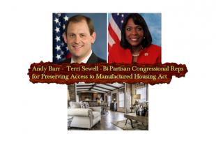 CongresswomanTerriSewell-CongressmanAndyBarr-PreservingAccessToManfuacturedHousingActHr650-S682-a-SunshineHomes