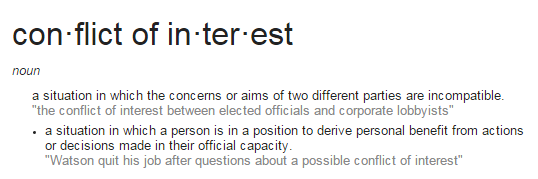 conflict-of-interest-google-definition-