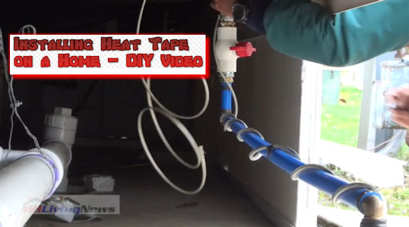 Do-It-Yourself Heat Tape Video! Prevent Winter Freeze Ups