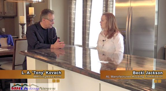 LATonyKovach-BeckiJacksonALManufacturedHousingCommissionInspector-InsideMHRoadShow_ManufacturedHomeLivingNews-VideoStill-575x317