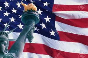 AmericanFlagStatueLiberty-head-arm-and-torch-credit123RF-postedMHLivingNews