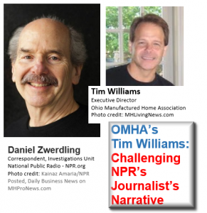 DanielZwenderlingNPR-TimWilliamsOMHA-ChallengingJournalistsNarrativePostedManufacturedHomeLivingNews