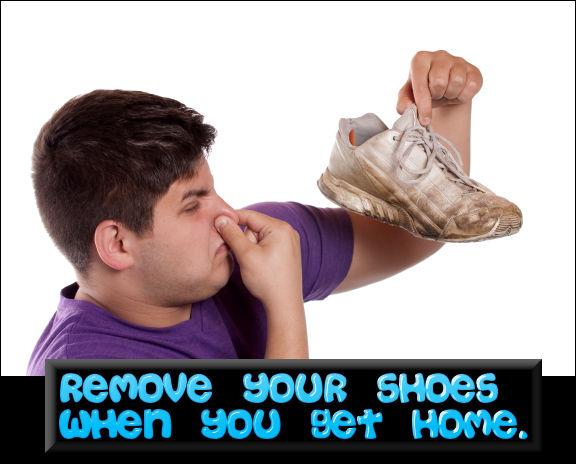 RemoveYourShoesWhenYouGetHomesStinkyShoesOffClearnerHealthierHome-MHLivingNewsManufacturedHomeLivingNews