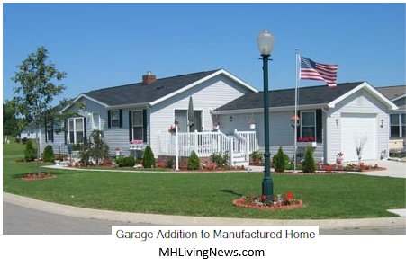 Manufactured home garage additions pictures.
