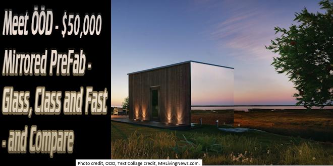 Mee ÖÖD$50,000MirroredPreFabGlassClassFast CompareModularPrefabManufacturedHomeLivingNews