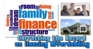 CorrectingRecordHousingAffordabilityHomeWordCloudMHIManufacturedConventionalHousingMHLivingNews660
