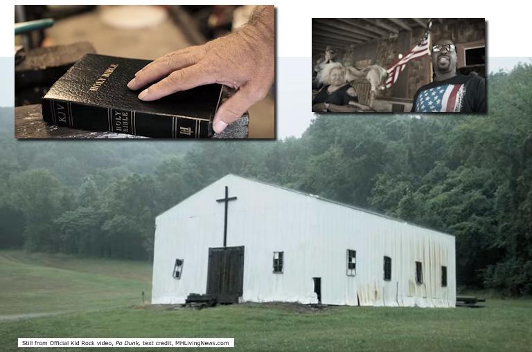 BibleFlagChurchPoDunkKidRockStillManufacturedHomeLivingNews