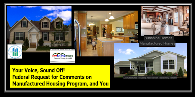 Deadline Looms! Federal Request for Comments on Manufactured Housing Program, and You