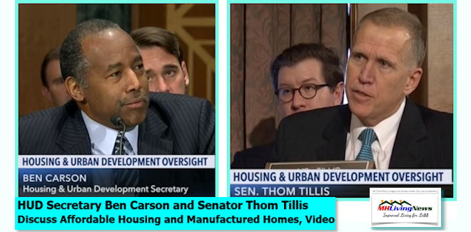 HUD Secretary Ben Carson and Senator Thom Tillis Discuss Affordable Housing and Manufactured Homes, Video