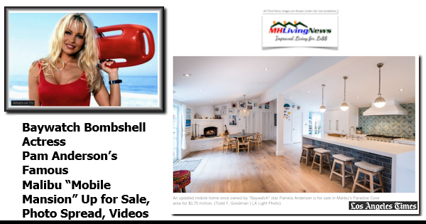 """Baywatch Bombshell Actress Pam Anderson's Famous Malibu """"Mobile Mansion"""" Up for Sale, Photo Spread, Videos"""