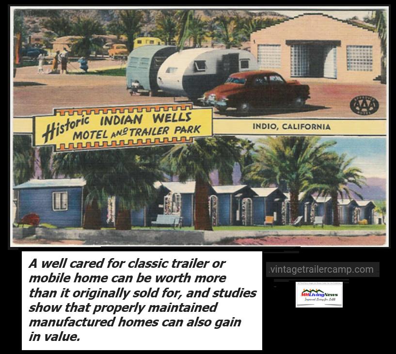 IndianWellsMotelTrailerPark2centpostCardMobileManufacturedHomeLivingNews