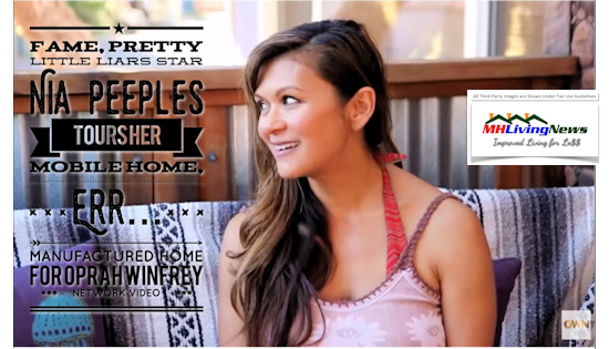 Fame, Pretty Little Liars Star Nia Peeples' Mobile…err….Manufactured Home Tour, Featured on Oprah Winfrey Network Video