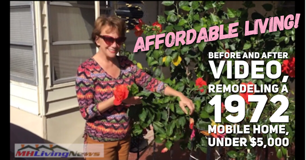 Affordable Living! Before and After Video, Remodeling a 1972 Mobile Home, Under $5,000