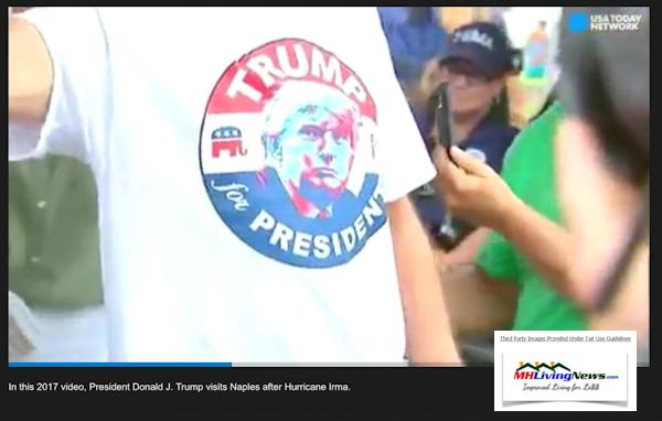 TrumpforPresidentTShirtNaplesFLManufacturedHomeCommunityPostHurricanIrmaMHLivingnEws