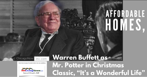 "Affordable Homes, Warren Buffett as Mr. Potter in Christmas Classic, ""It's a Wonderful Life"""