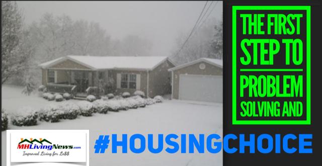 FirstStepinProblemSolving#HousingChoiceManufacturedHomeLivingNewsSnowCoveredSunshineHome