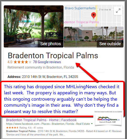 BradentonTropicalPalmsManufacturedMobileHomeParkCommunityFLAdultLivingMHLivingNews
