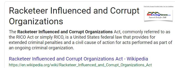 RacketeringInfluencedCorruptOrganizationsActRICOWikiMHLivingNews