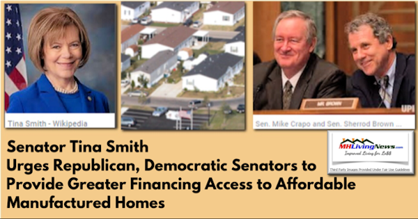 Senator Tina Smith Urges Republican, Democratic Senators to Provide Greater Financing Access to Affordable Manufactured Homes