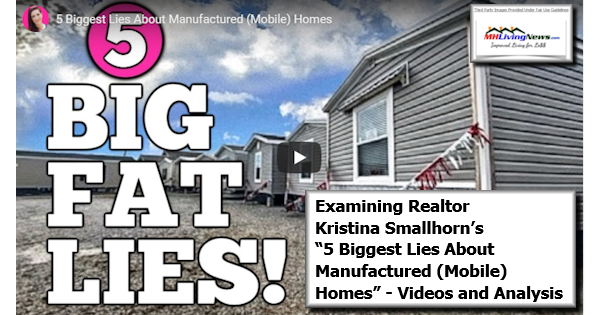 """Examining Realtor Kristina Smallhorn's """"5 Biggest Lies About Manufactured (Mobile) Homes"""" - Video and Analysis"""