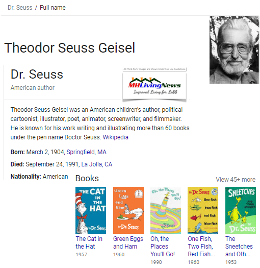 TheodorSeussGeiselDrSeussCatintheHatAuthorManufacturedHomeLivingNews.png
