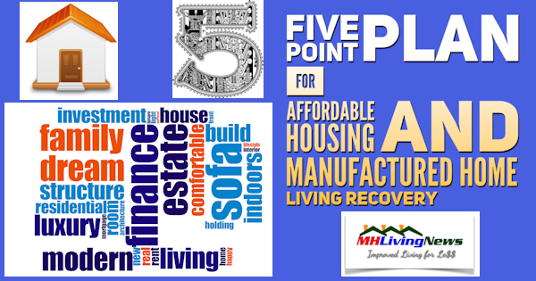 Five Point Plan for Affordable Housing and Manufactured Home Living Recovery