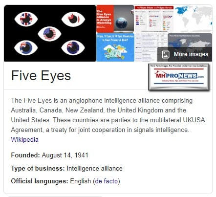FiveEyesIntelligenceServicesWikiManufacturedHomeLivingNews