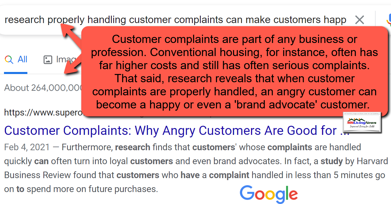 ResearchShowsCustomerComplaintsRapidlyProperlyHandledResultsInBrandLoyalCustomersGoogleScreenCaptureMHLivingNews